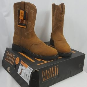 4f0193538e6 Ariat Sierra Saddle steel toe cowboy work boots 13 NWT